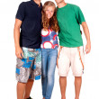 Teenage girl and boys — Stock Photo