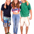 Teenage girl and boys — Stock Photo #30195971