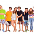Stock Photo: Group of teenagers