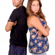 Stock Photo: Teenage couple