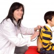 Female doctor with boy — ストック写真