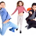 Kids jumping — Stock Photo #36323459