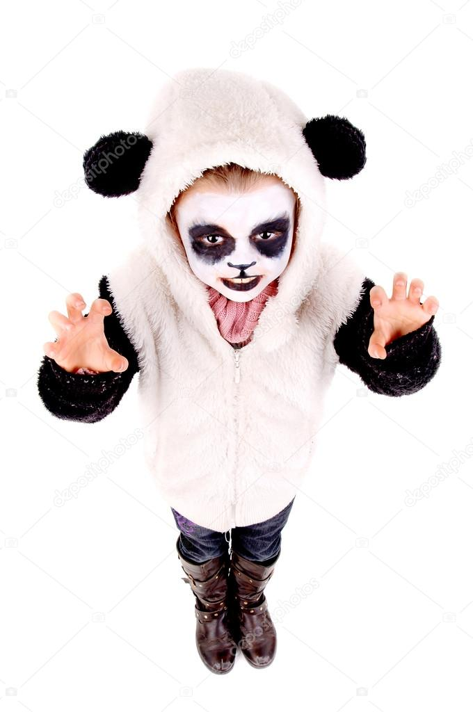 Simple Panda Face Paint Face Painting Panda Bear
