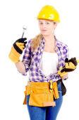 Female constructor — Stock Photo