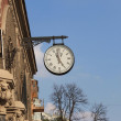 Old clock on the wall — Stock Photo
