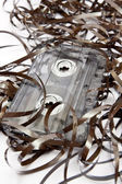Cassette tape in a mess — Stock Photo