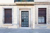Door and windows at Sarrià district (Barcelona) — Stock fotografie