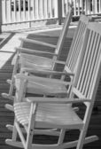 White Chairs — Stock Photo