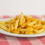 Pommes frites, french fries — Stock Photo