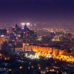 Almaty in the night, city night shot — Stock Photo