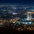 Kazakhstan hotel in the night Almaty — Stock Photo
