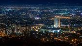 Kazakhstan hotel in the night Almaty — Stock Photo