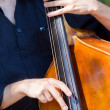 Stock Photo: Musiciplaying double-bass