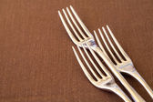 Dining forks — Stock Photo