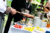 Bröllop catering — Stockfoto