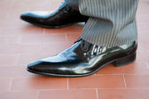 Groom shoes — Stock Photo