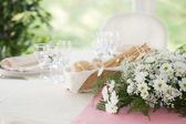 Table prepared for the wedding — Stock Photo