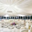 Stock Photo: Wedding reception tables