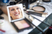 Bride make-up. — Stock Photo