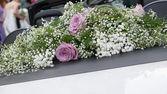 Svatební auto — Stock fotografie