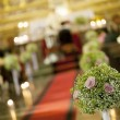Beautiful flower wedding decoration in a church — Stock Photo #47434335