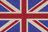 British flag made of colored decorative sand. — Stock Photo