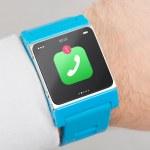 Close up blue smart watch — Stock Photo #38415959