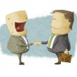 Shaking Hands on Reaching Agreement — Stock Photo #23668739
