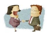 Skakar hand på överenskommelse — Stockfoto