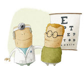 Oculist doctor with patient — Stock Photo