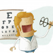 Female ophthalmologist take glasses — 图库照片 #30641871