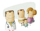 Rodinný lékař — Stock fotografie