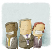 Illustration of business people — 图库照片
