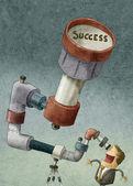 Illustration of businessman — Stock Photo