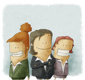 Illustration of business people — Photo