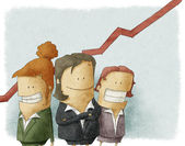 Illustration of business people — Foto de Stock