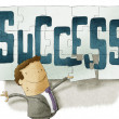 Stock Photo: Success puzzle background