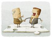 Homens de negócios, apertando as mãos — Foto Stock