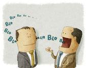 Baas met werknemer — Stockfoto