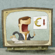Stock Photo: Business News euro down