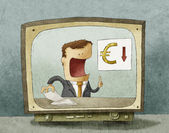 Business News euro down — Stock Photo
