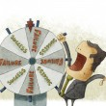Success failure in wheel of fortune — Stock Photo