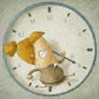 Trying to beat the clock — Stock Photo