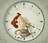 Trying to beat the clock — 图库照片