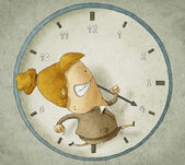 Trying to beat the clock — Foto Stock