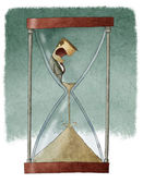 Man in hourglass — Stock Photo