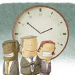 Business people with clock — Stock Photo #42857699