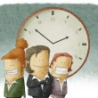 Business people with clock — Stock Photo #42857735