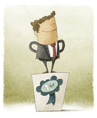 Businessman winner — Stock Photo