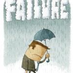 Depressed Businessman under umbrella — Stock Photo